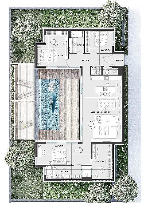 Einstöckige Luxushäuser in Bulgarien–Stadt Burgas, Sarafovo, mit moderner Architektur.